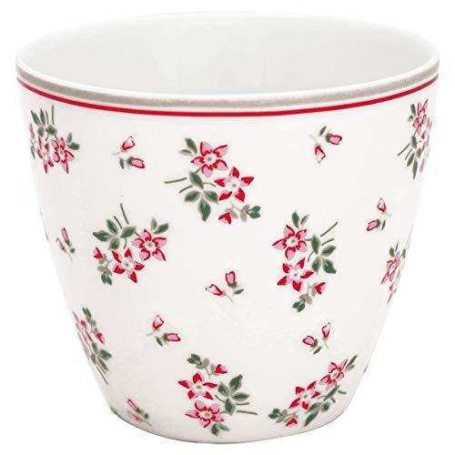 GreenGate - Becher, Tasse, Kaffeetasse, Latte Cup - Avery - Porzellan - White - 300 ml