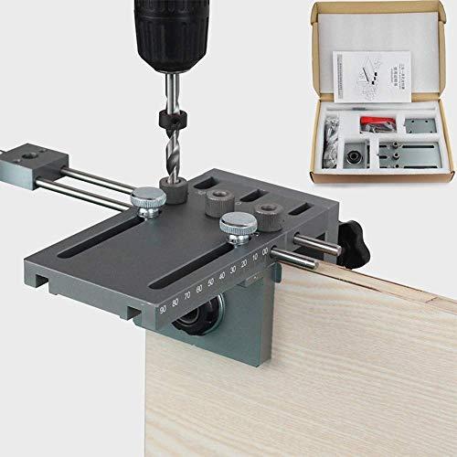 InLoveArts Bohrerführung für die Holzbearbeitung mit 30cm Verlängerungsstange, selbstzentrierende Dübellehre 6/8/10/15mm Plus-Positionierungsset für die Bohrführung
