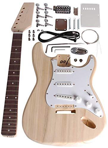 Beaton DIY-ST-11 - Set chitarra da costruire, edizione Strat, tutto incluso