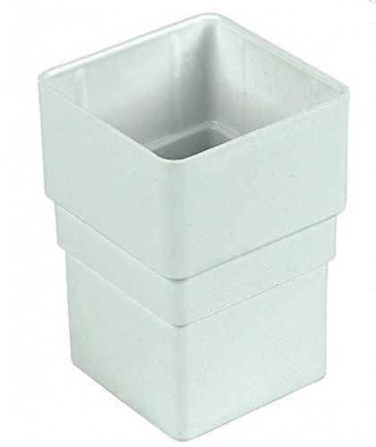 FLOPLAST 65mm Square Downpipe Socket - White by FloPlast