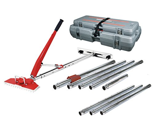 Roberts 10-254V Value Kit Power-Lok Carpet Stretcher with 17 Locking Positions and 18-Inch Tail Block with Wheels,Red