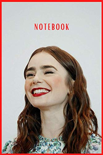 """Lily Collins Notebook/Journal/diary Great Birthday or Christmas Gift: Perfect for taking notes , Sketching Soft Matte Cover and 110 Premium Paper/Pages, 6"""" x 9"""" inches"""
