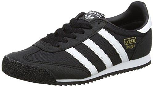 adidas Dragon OG J Bb2487, Baskets Basses Mixte, Noir (Core Black/Footwear White/Core Black), 36 2/3 EU