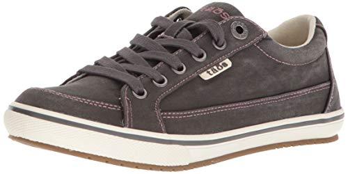 Taos Footwear Women's Moc Star Graphite Distressed Sneaker 10.5 M US