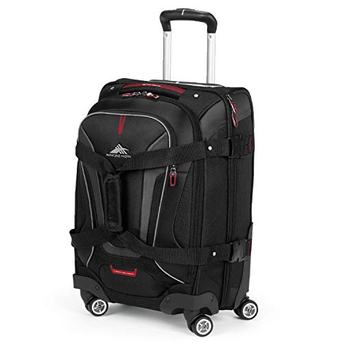 High Sierra AT7 Softside Luggage with Spinner Wheels, Black