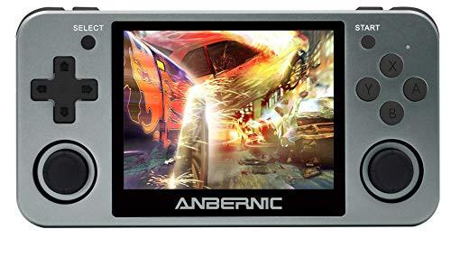 Anbernic Console di Giochi Portatile , RG350M Console di Giochi Retro OpenDingux Tony System , Free with 32G TF Card Built-in 2500 Classic Giochi HDMI Output - Grigio