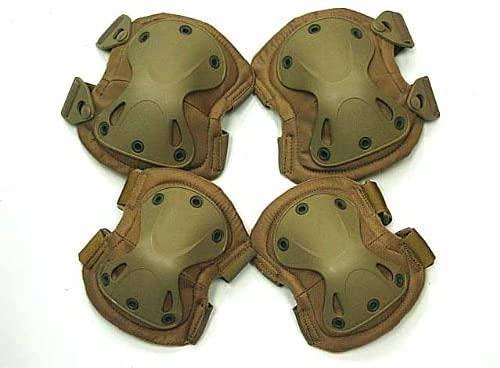 FIRECLUB Airsoft SWAT X-Cap Airsoft Paintball Knee & Elbow Pads Desert Tan