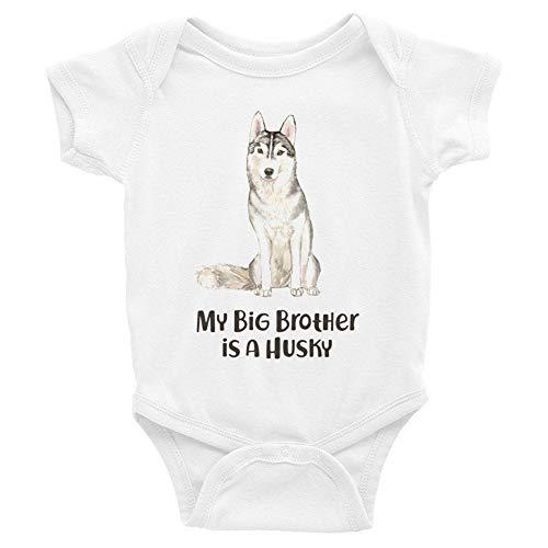Toll2452 Body para bebé, disfraz de perro siberiano Husky para bebé, unisex, regalo para recién nacido.