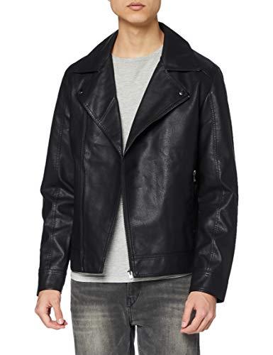 Jack & Jones Jornolan Biker Jacket Noos Chaqueta, Black, XXL para Hombre