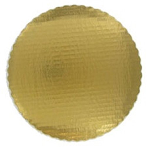 Oasis Supply Scalloped Cake Circle, 8-Inch, 10-Inch and 12-Inch, Gold, Set of 2