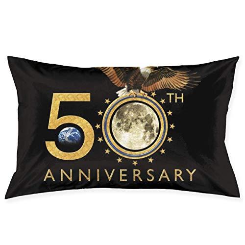 WH-CLA Pillowcase Apollo Eleven Fiftieth Anniversary 60X40Cm Home Dekorativer Stuhl Geburtstagssofa Süßes Geschenk Rechteck Reißverschluss Gedruckt Personalisierte Couch Kissenbezug Kiss