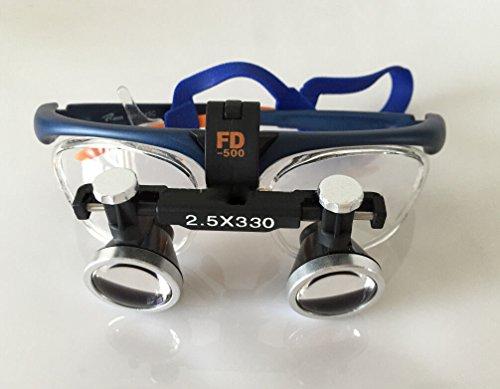 Zgood FD-501-G Binocular Galileo Frame Loupe Magnifier Glasses 2.5X330MM/550MM (330MM)