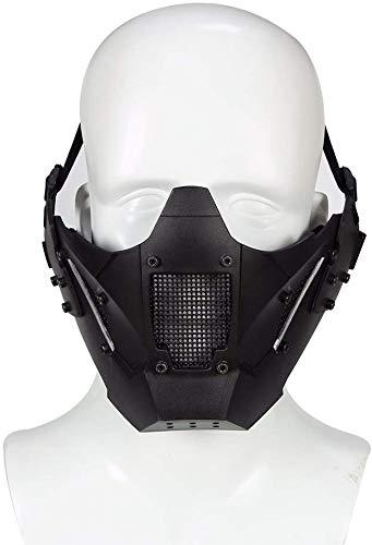 N / A Airsoft Steel Mesh Mask Schutzmaske für das untere Gesicht im Militärstil, geeignet für schnelle Helme, für die Jagd auf Paintball CS-Spiele BB Gun Shooting