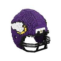 FOCO Minnesota Vikings NFL 3D BRXLZ Puzzle Replica Helmet Set