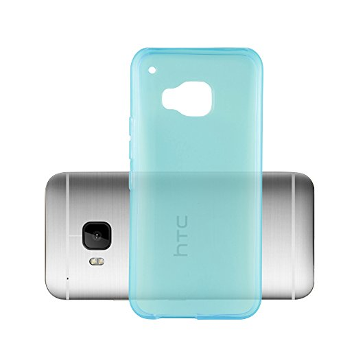 Cadorabo Case Works with HTC ONE M9 in Transparent Blue – Shockproof and Scratch Resistant TPU Silicone Cover – Ultra Slim Protective Gel Shell Bumper Back Skin