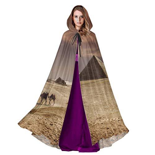 Bild der großen Pyramiden von Gizeh in Ägypten Cape Hooded Cloak Womans Hooded Cloak 59 Zoll für Weihnachten Halloween Cosplay Kostüme