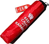 Paraguas Plegable y Compacto, con Texto en inglés: Keep Calm, It's Raining Se Guarda fácilmente en una Bolsa o guantera, así no se tendrá Que preocupar Cuando empiece a llover.