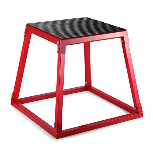 VEVOR Plyometric Platform Box 12/18/24 Inch Fitness Exercise Jump Box Step Plyometric Box Jump for Exercise Fit Training (18inch,Red)