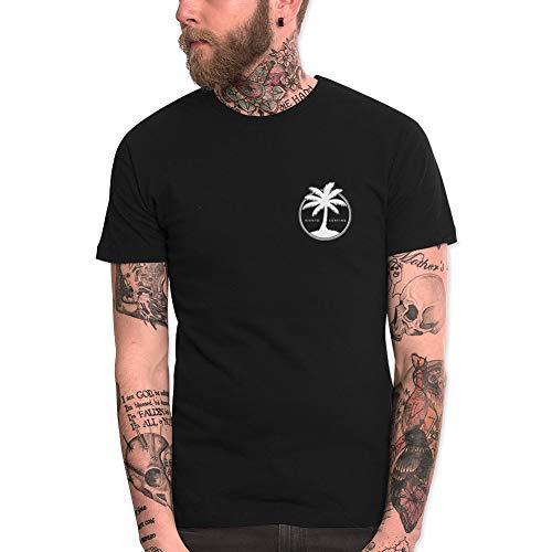 VIENTO Coco Surf Camiseta para Hombre (Negro, L)