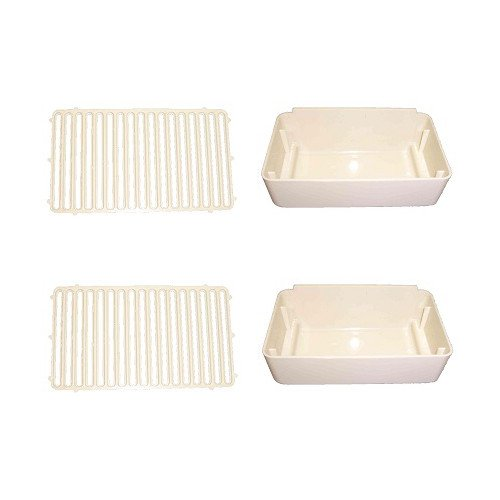 Combo Pack 2 Drip Pans New Easy-to-use life and Replaces Covers Crathco Pan