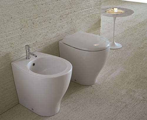 Sanitari Globo - Igienici filo parete Ceramica Globo mod. Bowl+ 55 Wc Multi + Bidet