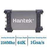 Hantek 6254BD - Osciloscopio digital USB (250 MHz, 1GSa/s, 4 canales, forma de onda arbitraria
