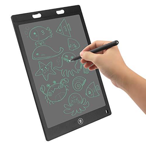 Putron Tablets Escritura, 12 Inch Pulgadas Tableta Gráfica,Tablero de Dibujo de Graffiti, Adecuada para el Hogar, Escuela, Oficina, Cuaderno de Notas (Black)