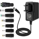 EFISH 12V 2A 24W Adaptateur d'alimentation du transformateur,pour les appareils ménagers,CCTV Camera,Routers,Hubs,LED strips,Telekom,T-Com,Speedport,Radiowecker,Scanner,Switch+7 Différents bouchons