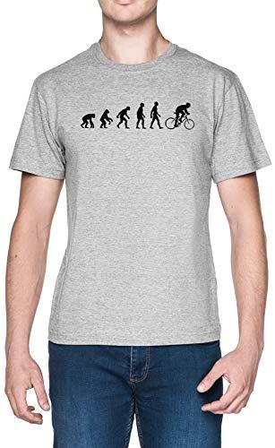 Evolución Bicicleta Sillín Gris Hombre Camiseta Tamaño S Grey Men's tee Size...