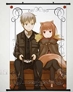 Anime Spice and Wolf Home Decor Wall Scroll Poster Fabric Painting Janpan Art Cosplay Horo 23.6 x 35.4 Inches-118[A]