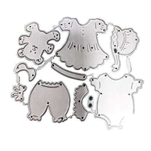 RIsxffp ModaTroquelado Ropa para bebés Troquelado de Metal DIY Scrapbooking Relieve Papel Tarjetas Stencil 2#