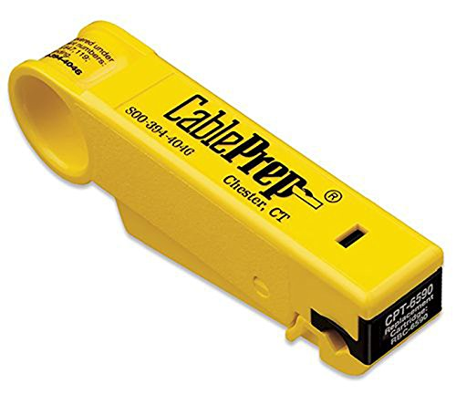 CablePrep Drop Stripping Tool, RG6/59 w/Stop, 1/4 x 1/4 Prep