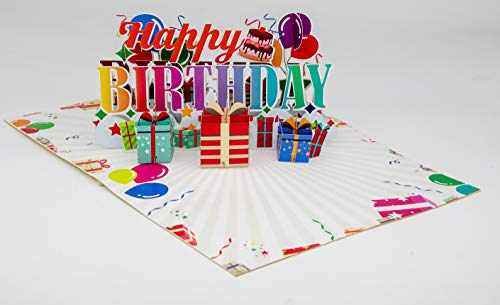 Happy Birthday 3D Pop UP Card, 3D Greeting Cards