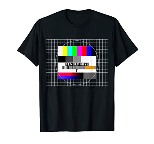 Testbild Sendepause 90er Party 80er Jahre Outfit Fan Kostüm T-Shirt