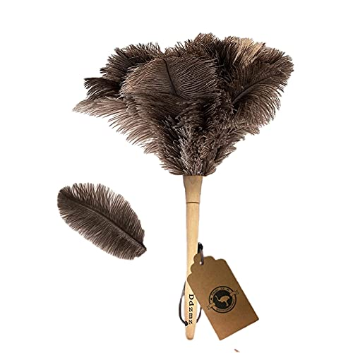 Ostrich Feather Duster,Feather Duster Fluffy Natural Genuine...