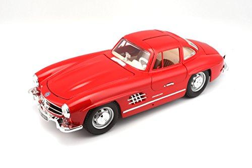 Bburago - 18-12047 - Véhicule Miniature - Modèle À L'échelle - Mercedes 300 Sl Coupé - 1954 - Echelle 1/18 - Coloris aléatoire