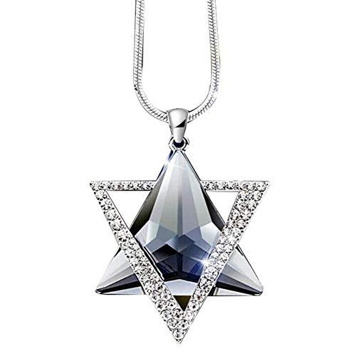 YUELANG Vertraglich Vereinbarte Triangles Hängende Lange Halskette-weibliche Winter-Strickjacke-Ketten-All-Gleiches Zubehör (Metal Color : Grey)