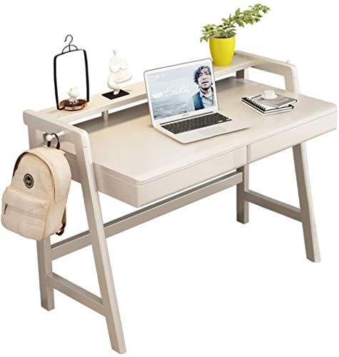 Computer Bureau met lades Hout Schrijven Computertafel Multifunctinale montage Studietafel Werkstation Eettafel met kruk 120x60x88cm