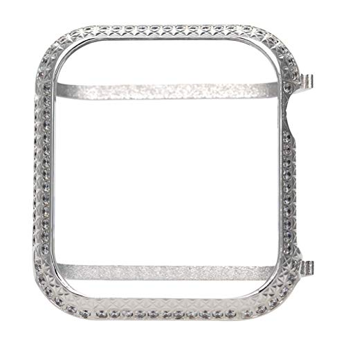 HEMOBLLO Cubierta Protectora de Marco de Carcasa de Metal antichoque para Apple Watch 4 Series 40mm (Plata)