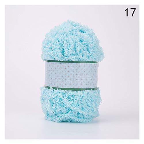 Suave y confortable 50 g / bola de lana gruesa coral hilvete de terciopelo suave hilado de bebé tejido de hilo de hilo de cachemira hilo de crochet hilo de hilo manta infantil suéter Suministros de te