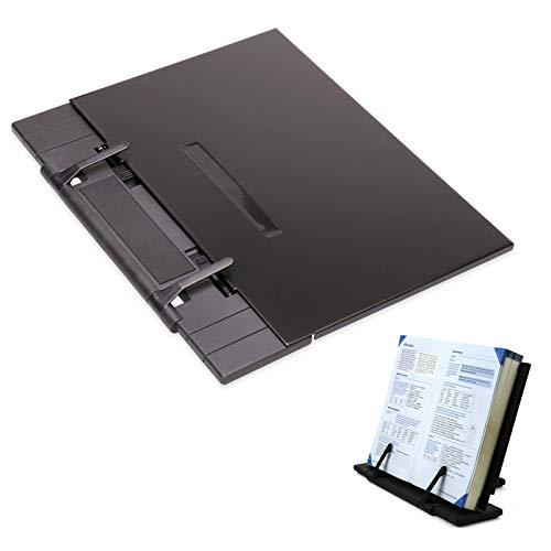 NININI Supporto per Libri Portatile Regolabile in Metallo,con 7 Altezze Regolabili Leggio per Libri Pesanti Legio per Studiare Supporto Multifunzine per Ricettari, Libri iPad e Tablet