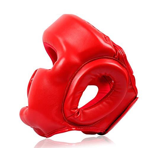 ZDAMN Casco de Boxeo Adulto Cara del niño Casco Boxeo Sanda Casco de la Cara del Mono Lucha Taekwondo Protector de Cabeza para el Boxeo (Color : Azul, Size : M)