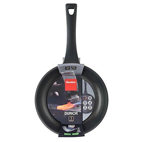 Metaltex DURIOR - Sartén Aluminio Fundido 24 cm, antiadherente 2 capas, Full Induction válido para todo tipo de cocinas