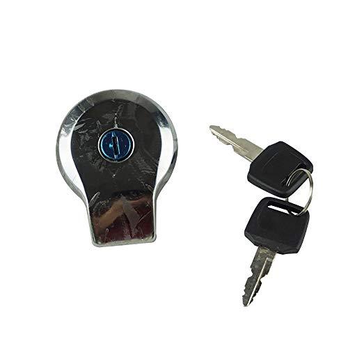 Kaixinuo Fuel Gas Tank Cap Cover Keys Compatible for Yamaha SR125 SR185 SR250 Virago XV125 1997-2000 XV250 Route 66 1988-2013
