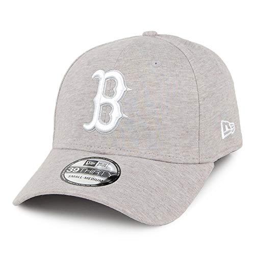 New Era Gorra béisbol 39THIRTY MLB Jersey Essential Boston Red Sox Gris-Blanco...
