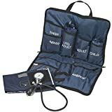 MABIS Medic-Kit3 EMT and Paramedic First Aid Kit with Multiple Cuff Sizes, 3 Calibrated Nylon Blood...
