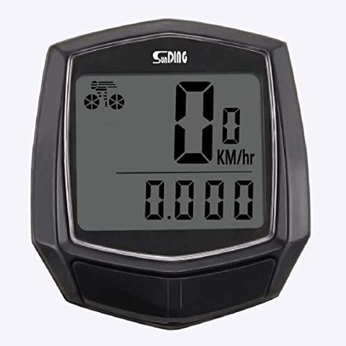 Yize Fahrradcomputer, LCD-Backlight, Kilometerzähler, Computer für Fahrrad, wasserdicht, Tacho für Fahrrad, Realtime Speed Track, Distanz