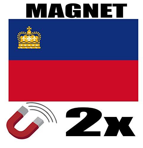 SAFIRMES 2 x Liechtenstein Flagge Magnet 6 x 3 cm Deko Lichtenstein Magnet Kühlschrank