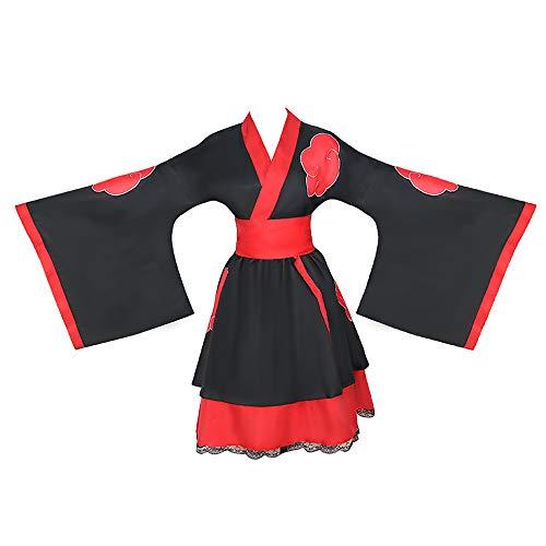 first123 Anime Naruto Cosplay Disfraz Uzumaki Naruto Disfraz Kakashi Akatsuki Hyuga Hinata Lolita Vestidos Kimono Vestido de Encaje