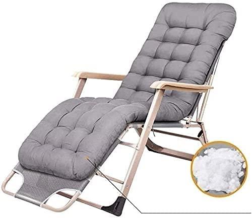 JYHJ Silla plegable, silla al aire libre, silla de gravedad cero, silla de ocio, soporte al aire libre, 400 libras, adecuado para jardín y porche, piscina, césped camping (color gris)